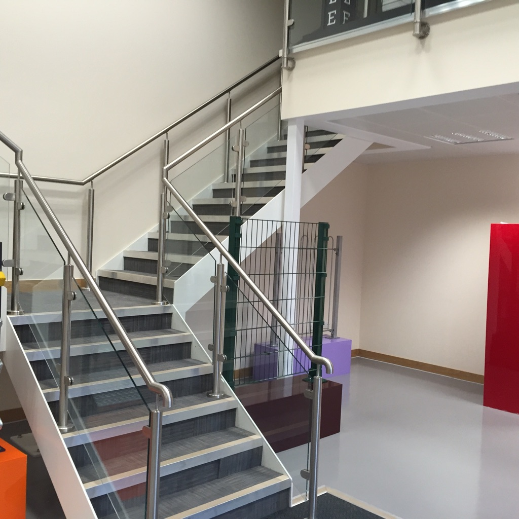 Residential Mezzanine Floor : Mezzanine stairs safety gates staircase or